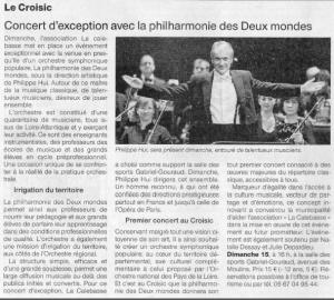 Un Orchestre populaire au cœur des Pays de la Loire (44) sous la direction de Philippe Hui