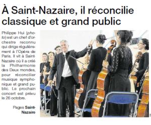 Page de couv Ouest France du 09/10/2013