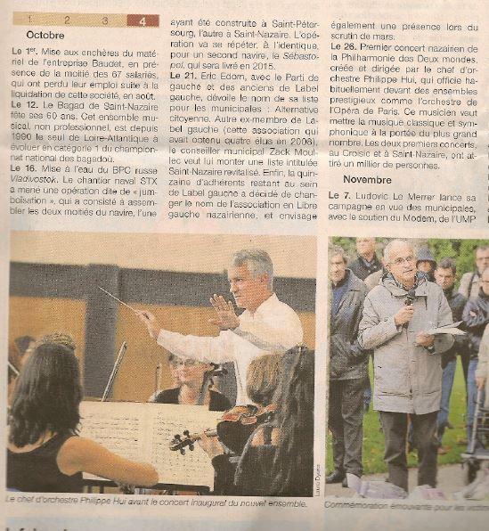 Ouest France 03 janvier 2014