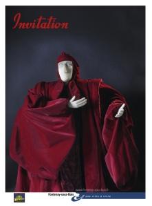 Affiche de l'exposition Résonance - rétrospective de 25 ans de résidence artistique de la Cie Jean-Pierre Lescot dans la Halle Roublot de Fontenay-sous-Bois