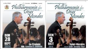Prochains concerts de la Philharmonie des Deux Mondes au Croisic et à Saint-Nazaire
