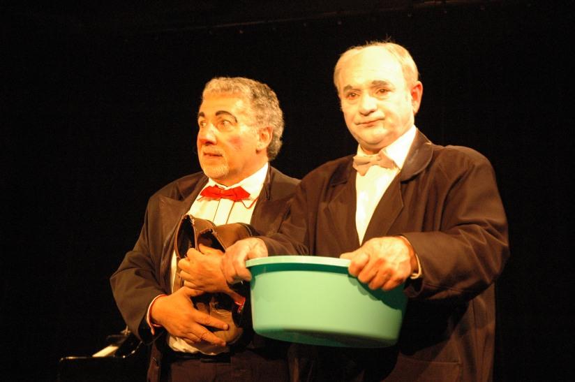Luciano Travaglino et Patrick Dray le 15 octobre lors de la 1ère du spectacle !