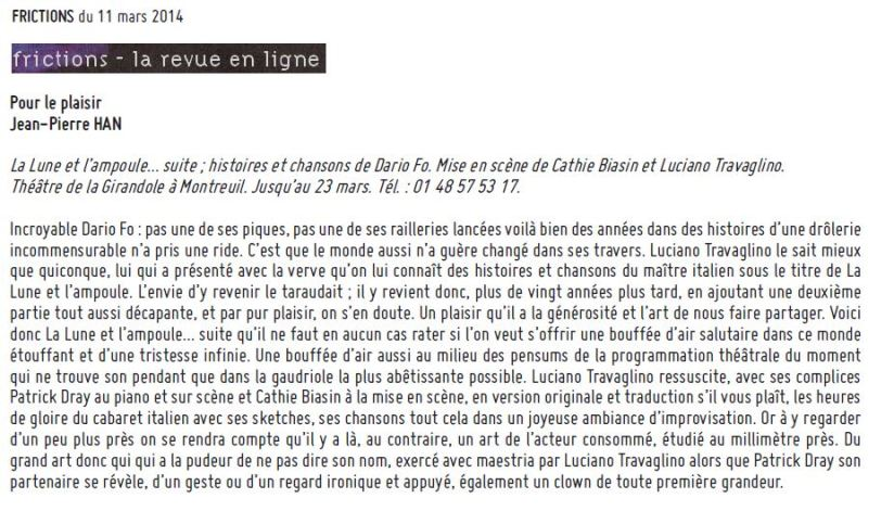 Frictions - Lune - 11 mars 2014