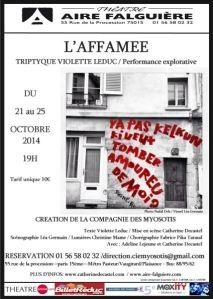 Flyer l'Affamée 21 25 oct 2014
