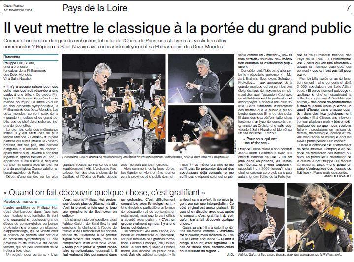 Ouest France du 1er nov 2014
