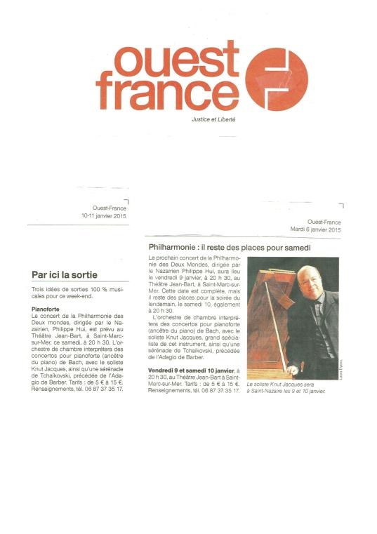 Ouest-France - Janvier 2015