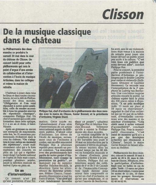 De la musique classique au Château _ L'Hebdo de Sèvre et Maine du 21 mai 2015