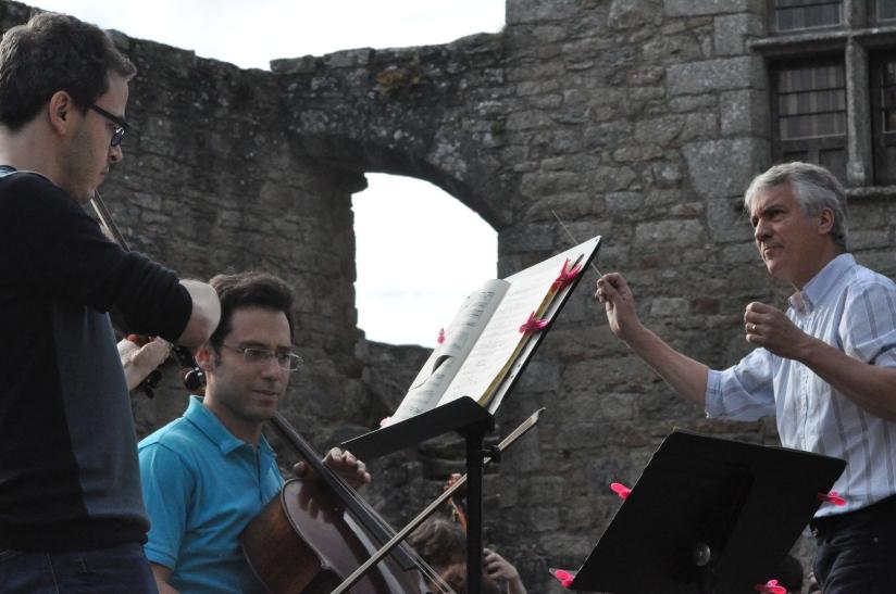 Répétition du double concerto de Brahms avec les solistes Sullimann Altmayer et Gauhtier Hermann