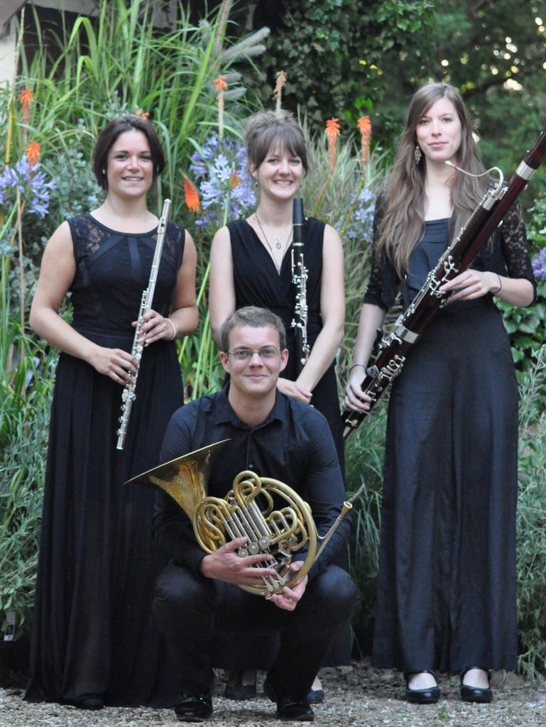 Le quatuor à vent du Festival, dirigé par Philippe Hui