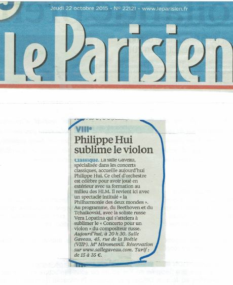 Article le Parisien 22 10 15
