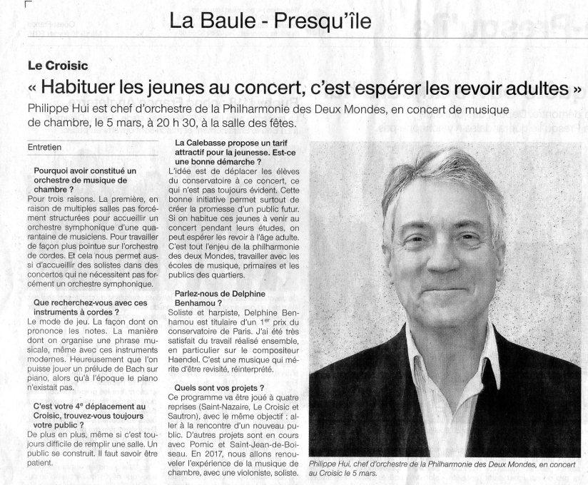 Article Ouest France 16 février 2016