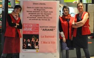FlashMob du quatuor Ariane à Auchan Bagnolet