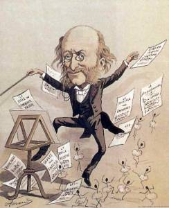 caricature d'Offenbach