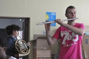 Flûte et cor loges